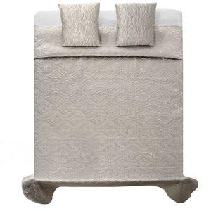 Tutumi Přehoz na postel Verona + 2 povlaky na polštář stříbrné