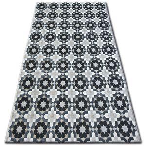 3kraft Kusový koberec LISBOA 27206/356 květiny šedý