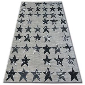 3kraft Kusový koberec LISBOA 27219/956 hvězda černý