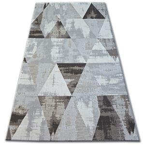 3kraft Kusový koberec LISBOA 27216/655 trojúhelníky hnědý