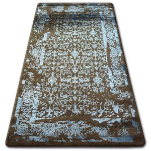 3kraft Kusový koberec MANYAS Mariet hnědo-modrý