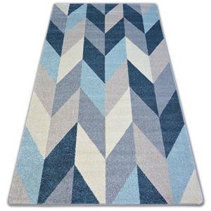 3kraft Kusový koberec NORDIC JEDLE modrý G4582 rybí kost