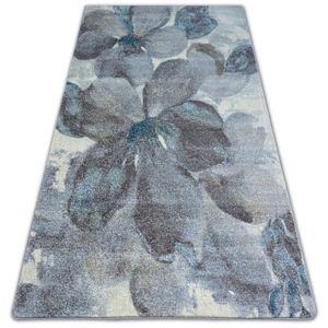 3kraft Kusový koberec NORDIC květiny šedý / hnědý FD291