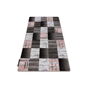 3kraft Kusový koberec ALTER Siena čtverce mřížka šedý