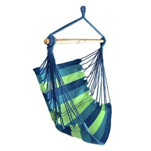 Bluegarden Houpací křeslo Jungle zeleno-modré