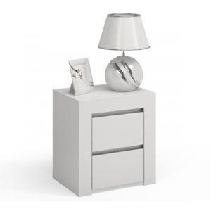 Shoptop Noční stolek DEKO D2 bílý