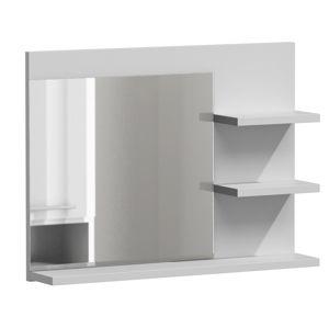 Shoptop Koupelnová polička se zrcadlem LUMO L3 bílá mat