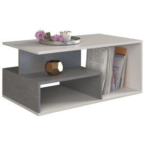 Shoptop Konferenční stůl Concerete šedo-bílý