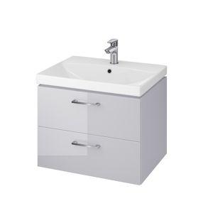 Umyvadlová skříňka s umyvadlem CERSANIT LARA Ruby šedá