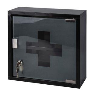 DekorStyle Kovová lékárnička 30x30 cm černá