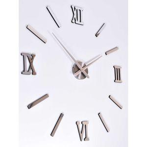 TZB Nástěnné hodiny Diy HAPI - stříbrné 3D