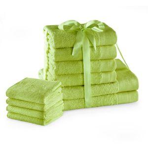 Amelia Home Sada bavlněných ručníků AmeliaHome AMARI 2+4+4 ks světle zelená