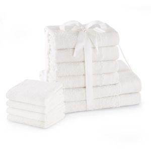 Amelia Home Sada bavlněných ručníků AmeliaHome AMARI 2+4+4 ks bílá