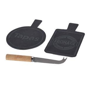 DekorStyle Sada servírovacích desek a nože TAPAS/FROMAGE