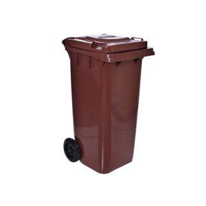 TZB Poplenice na odpady  120L  - hnědá