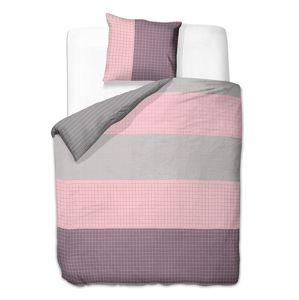 Povlečení z bavlny DecoKing Gerdila šedo-růžové