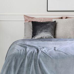 Přehoz na postel z mikrovlákna DecoKing Fluff uhlový