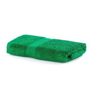 Bavlněný ručník DecoKing Mila 30x50cm tmavě zelený