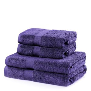 Set fialových ručníků DecoKing Niki