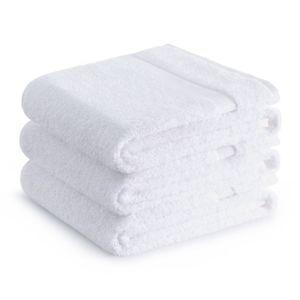Sada bavlněných ručníků Zender POIS 70x140 cm 500g/m2 bílá