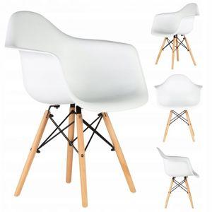 MODERNHOME Jídelní židle set 4 ks Irina bílá