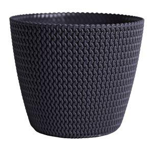 DekorStyle Květináč Splofy 3 L černý