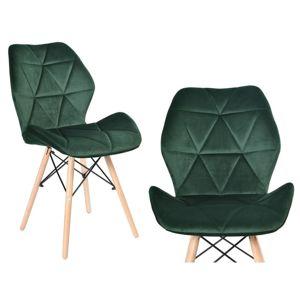 TZB Čalouněná židle RENNES VELVET - tmavě zelená
