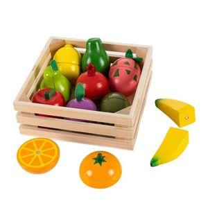 ECOTOYS Dřevěné ovoce s magnety