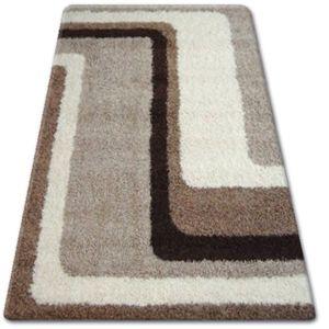 3kraft Kusový koberec SHAGGY ZENA HARRY světle béžový / tmavě béžový