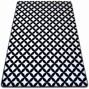 3kraft Kusový koberec SKETCH CALLUM bílý / černý - diamant