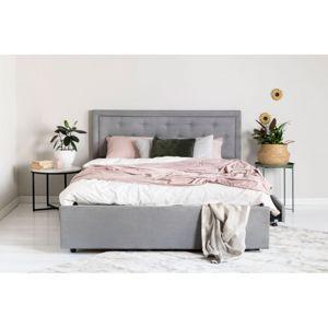 Hector Čalouněná postel Huller 2.0 160x200 dvoulůžko - šedé