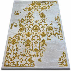 3kraft Kusový koberec BEYAZIT Zyky bílo-zlatý