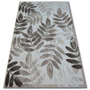 3kraft Kusový koberec ACRYLOVY YAZZ 2462 tmavě béžový / světle béžový