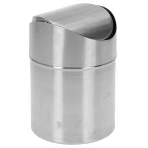 DekorStyle Odpadkový koš 16,5x12 cm stříbrný