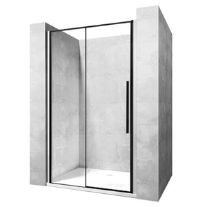 REA Sprchové dveře SOLAR BLACK MAT 140