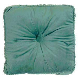 DekorStyle Polštář Velvet sametově zelená 45 x 45 cm