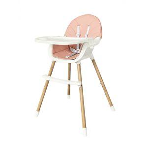 Dětská jídelní židlička 2v1 Colby EcoToys růžová
