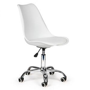 MODERNHOME Kancelářská otočná židle LILIANA bílá