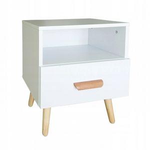 Noční stolek Ella ModernHome bílý