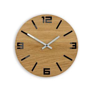 Mazur Nástěnné hodiny Arabic tmavě hnědé