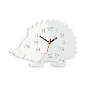 Mazur Nástěnné hodiny Ježek bílé