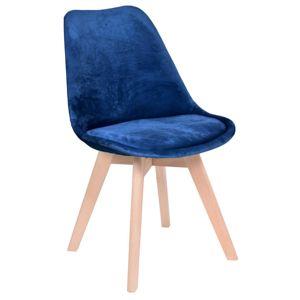 TZB Židle Nantes Velvet modrá