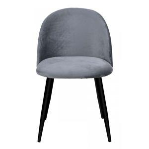 TZB Židle SOUL VELVET tmavě šedá
